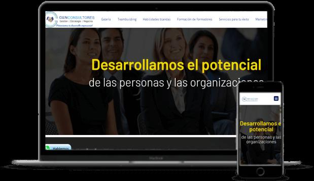 Diseño de páginas web gen consultores