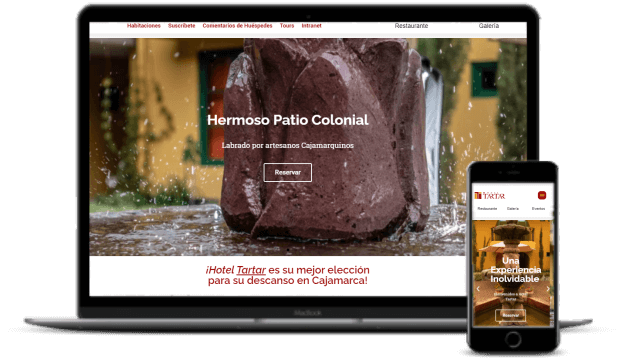 Diseño de páginas web hotel tartar