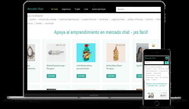 Diseño de páginas web mercado chat