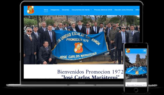 Agencia de desarrollo de páginas web - Promoción 1972 San Ramón Cajamarca