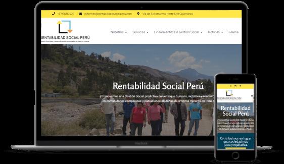 Agencia de desarrollo de páginas web - Rentabilidad Social Perú