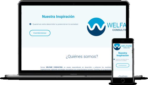 Desarrollo de páginas web - Welfare Consulting
